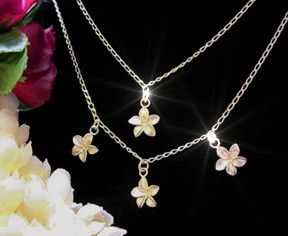 Plumeria Jewelry - Hawaiian Plumeria Jewelry: Necklaces, Rings