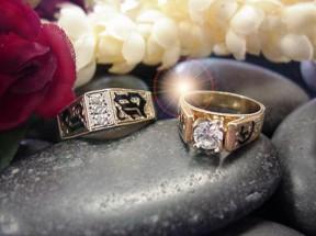 Hawaiian Wedding Rings Mau Loa Jpg 19217 Bytes